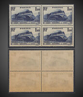 1937 FRANCE STREAMLINED LOCOMOTIVE  MNH BLOCK OF 4   SCT.328 Y 340