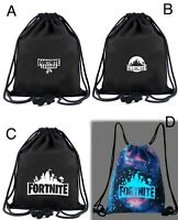 Fortnite adult kids sport Rucksack bag draw string Battle Royal Legend Gaming 5+