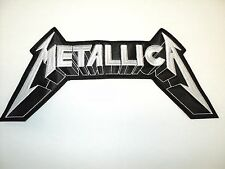 METALLICA WHITE   EMBROIDERED BACK PATCH