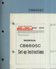 Genuine Honda CB650SC Nighthawk SOHC (1982-on) Set-Up Manual CB 650 SC RC08 627