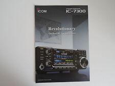 Icom - 7300 (authentique brochure seulement)... radio _ trader _ irlande.