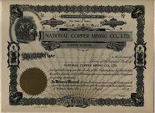 National Copper Mining Company Stock Certificate Wallace Idaho