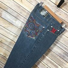 Makaveli Mens Jeans Size 34 Baggy Embroidered Wide Leg Hip Hop