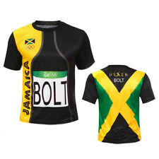 Men Sports Usain Bolt Rio T Shirt Jersey Jamaica 2018 Fast 2xl