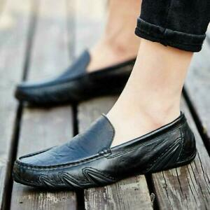 Mens Slip On Driving Moccasins Soft Comfort Leisure Faux Leather Loafers Shoes
