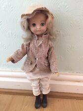 "Vintage Equestrian Dressed Rosebud Doll 14"" Tall"