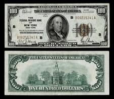 1929 $100 BILL NATIONAL CURRENCY FEDERAL RESERVE BANK OF NY~XF