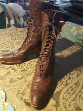 VINTAGE RICE & HUTCHINS BOSTON 1920s ◇  LEATHER WOMEN'S LACE UP VICTORIAN BOOTS