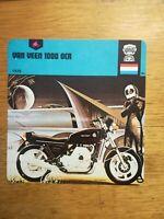 Fiche Moto Motorcycle Card 12 x 12,5 cm - VAN VEEN 1000 OCR - 1978