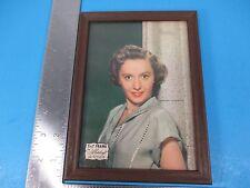 Vintage Barbara Stanwyck Picture Frame Advertising Plastic Frame Metalcraft VS2