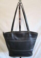 Vintage Coach 9094 Tribecca Large Black Leather Shoulder Tote Handbag Md in USA