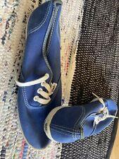 Vintage Made In Usa vans 70s Blue Womens 7-8? Dead stock Unworn Van Doren