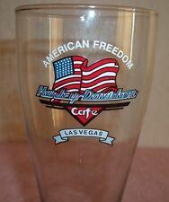 "HARLEY- DAVIDSON TALL BEER GLASS, "" AMERICAN FREEDOM HARLEY CAFE"" ""LAS VEGAS"""