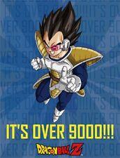New Vegeta Over 9000 Dragon Ball Z Fleece Throw Gift Blanket DragonBall Z Manga