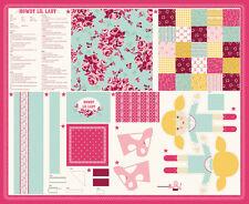 Moda FABRIC Quilt Panel ~ HOWDY ~ by Stacy Iest Hsu - 1 yard Lil Lady Doll PANEL