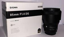 Sigma Art 85mm F/1.4 DG HSM Telephoto Lens for Canon EF
