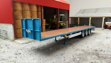 MARGE MODELS - 1901-03 PACTON FLATBED TRAILER BLUE COLOUR 1:32 SCALE
