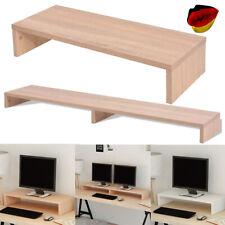 Monitorerhöhung Bildschirmerhöhung TV Schrank Fernsehtisch Stand TV-Möbel Weiß