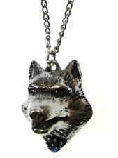 New Galraedia Lupercus Wolf Head Pendant Necklace Crystal GA12