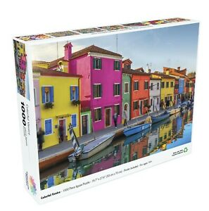"Colorful Venice 19.7""x27.6"" 1000 Piece Jigsaw Puzzle Colorcraft 1000CV001 Italy"