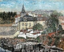 DOROTHY ROTHMER (1926-2011) 20TH CENTURY SIGNED PASTEL PAINTING,PORTUGAL CASCAIS