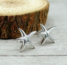 Starfish Post Earrings  - 925 Sterling Silver - Nautical Summer Beach Studs NEW