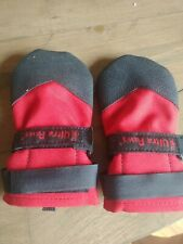 Ultra Paws Rugged Dog Boots Size Large red black excellent condition shoes snow