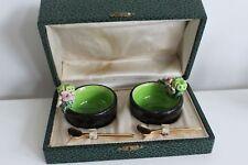 Paire de Saleron en Grès Kéramos à Sevres ceramique design 1950 boite cuillère