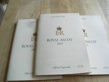 3 ROYAL ASCOT RACE CARDS 2005