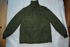 NWT Dark Olive Green ESPRIT Zip & Snap Front Insulated Field Style Jacket Large