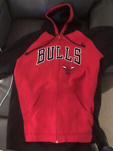 Adidas Chicago Bulls Full Zip Hoodie Sweatshirt NBA Basketball XL