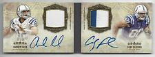 ANDREW LUCK COBY FLEENER 2012 TOPPS 5 FIVE STAR BOOK DUAL PATCH AUTO RC #D 14/15