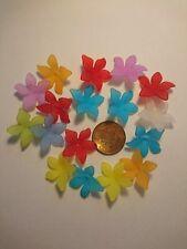 Flower Beads, Multicoloured 2.8cm Across