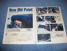 """How To Tech Info Article on Making a Car Have Patina Paint """"New Old Paint"""""""