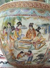 "High Quality Porcelain Asian Fish Bowl Vase with japanese satsuma and theme 14"""