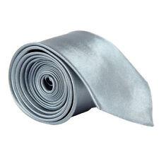 Clásico Skinny Hombre Entallado Corbata Sólido Color Liso SEDA Jacquard Tejido