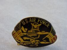 """U.S Air Force Clutch Back Hat Lapel Pin 2 Flags Eagle 14/16"""" Wide 5/8"""" Tall"""