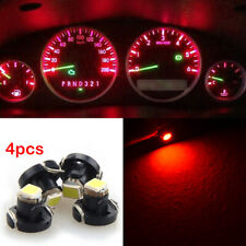 4PCS Red T4.7 Neo Wedge LED Bulb Dash Climate Control Instrument Base Light