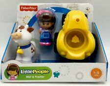 Fisher Price Little People Mia & Tractor Baby Toys Birthday Party Gift Playset