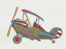 *NEW* Vintage Biplane handpainted Needlepoint Canvas by 2 Bananas from P. Pony