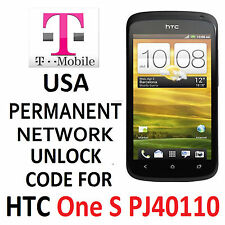 HTC PERMANENT NETWORK UNLOCKING PIN/CODE  FOR T-MOBILE HTC ONE S PJ40110