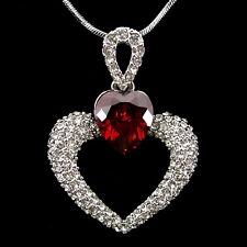 Twinkling White Heart Use Austria Crystal 18K White Gold-Plated Necklace