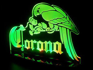 Multi color Acrylic Corona Extra Parrot Beer Counter Top LED Light Sign Bar Pub