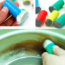2pcs x Stainless Steel Rust Remover Cleaning Detergent Stick Metal Wash Brush