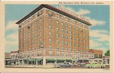 Spaulding Hotel Michigan City IN Postcard