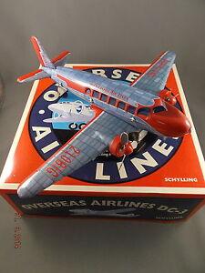 Tin DC3 Schylling Aeroplane - Friction Powered