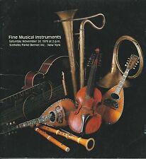 SOTHEBY'S MUSICAL INSTRUMENT Violin Bow Stradivari Camilli Guadagnini Catalog 79
