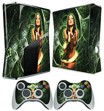 XBOX 360 SLIM CONSOLE STICKER SEXY SNAKE GIRL SKIN GRAPHICS & 2 CONTROLLER SKINS