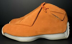 Air Jordan 18 Retro Campfire Orange AA2494-801 Men's Size 9.5