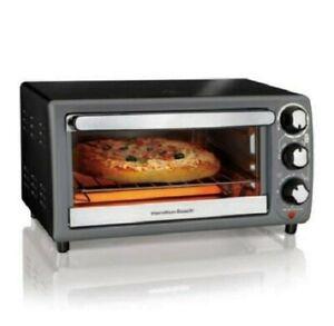 Hamilton Beach 4 Slice Capacity Toaster Oven In Charcoal Model 31148 (Brand New)